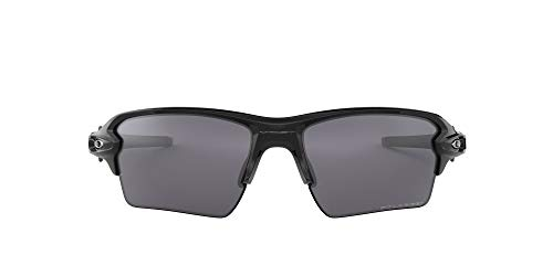 Oakley Men's OO9188 Flak 2.0 XL Rectangular Sunglasses, Polished Black/Black Iridium Polarized, 59 mm
