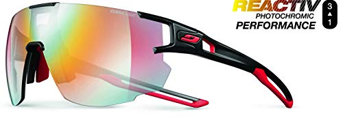 Julbo Aerospeed Performance Sunglasses - REACTIV Zebra Light - Black/Red/Red