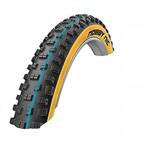 SCHWALBE Nobby Nic Addix Folding Addix Speedgrip Snakeskin 67TPI 23-50PSI 720g Tire, Black, 275' x 20/35'
