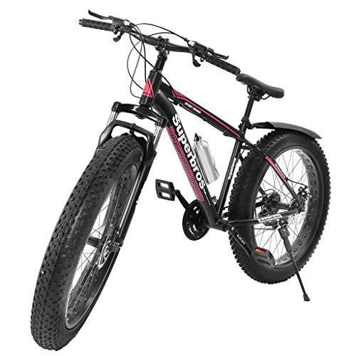 Allshiny Fat Tire Mens Mountain Bike, 17-Inch/Medium High-Tensile Aluminum Frame