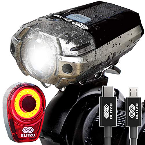 Waterproof USB Rechargeable LED Bike Light Bicycle Front Rear Tail Flashlight
